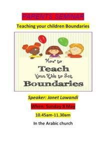Parents Seminar – Teaching Your Children Boundaries